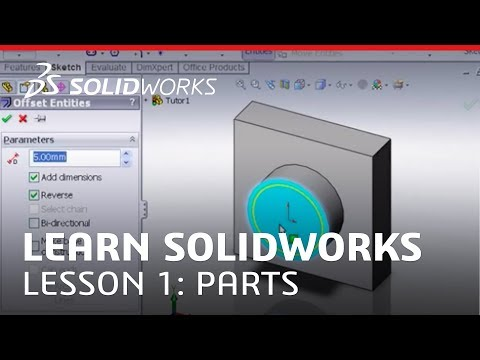 Solidworks Tutorial Learn Solidworks Lesson 1 Parts Youtube