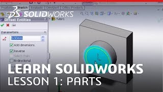 SolidWorks Tutorial Learn SolidWorks Lesson 1 Parts