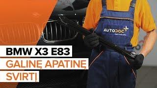 Montavimas Vikšro Valdymo Svirtis BMW X3 (E83): nemokamas video