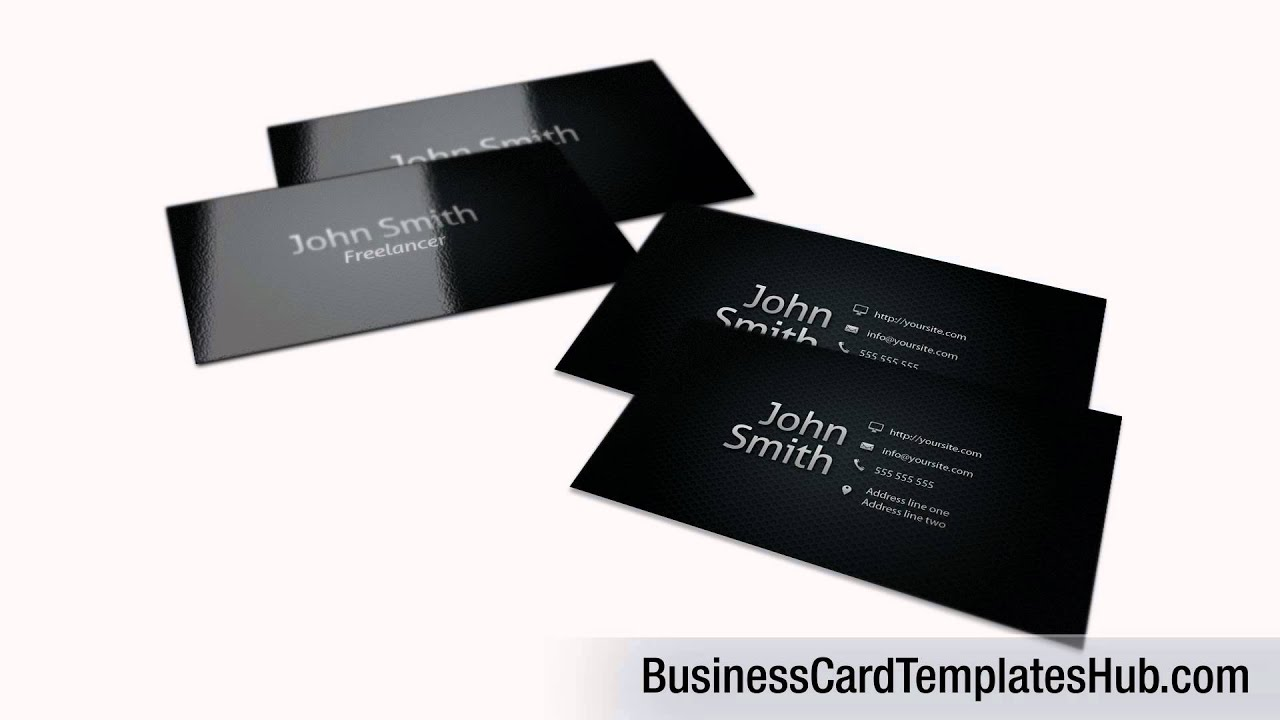 elegant black personal business card template youtube