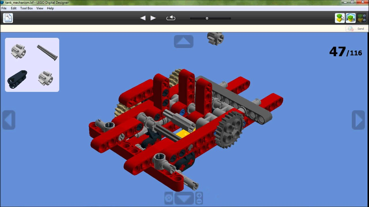 Lego Technic Tank With 25 Projectiles Building