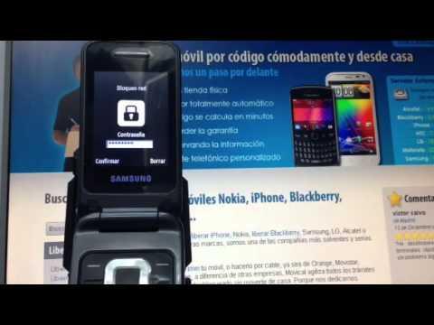 Liberar Samsung C3520 de Movistar en 5 minutos, Movical.Net