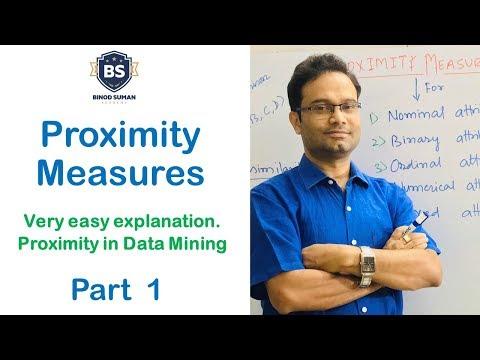 Proximity Measures - 1 | Introduction, Easy Explanation | Data Mining
