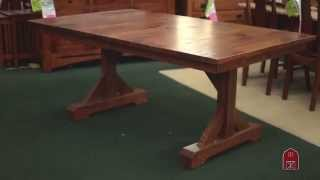 Barn Floor Plank Top Dining Table