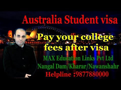 Australia Student visa | Pay your college fees after visa |