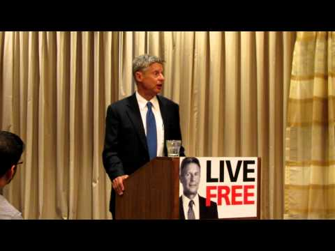 Gary Johnson speaking about his time as governor of New Mexico