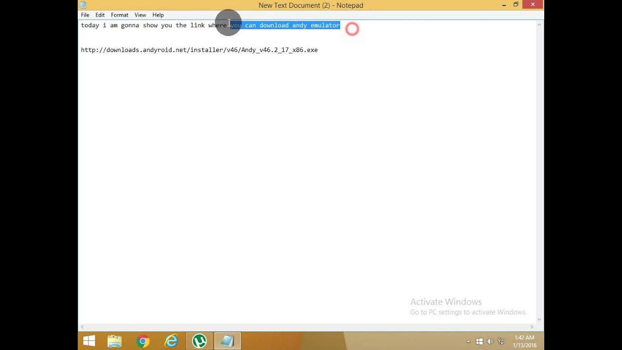 Andy emulator offline installer