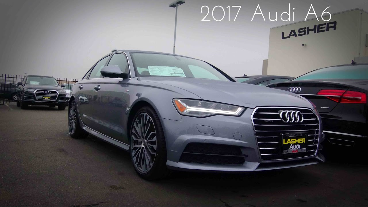 2017 Audi A6 S-Line 2.0 L Turbocharged 4-Cylinder Review - YouTube