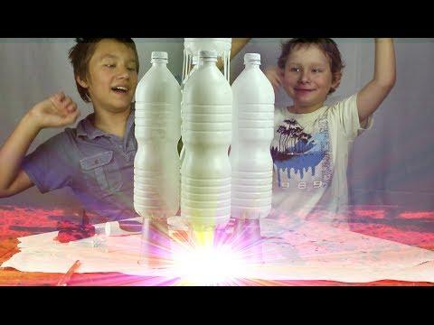 Поделка 7: Огромная ракета из пластиковых бутылок