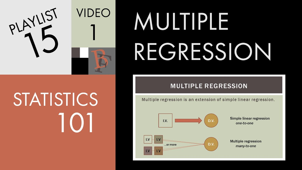 Statistics 101 Multiple Linear Regression The Very