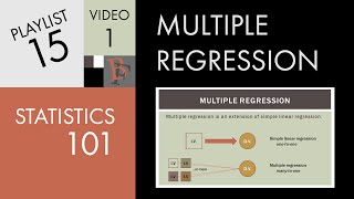 Statistics 101: Multiple Regression (Part 1), The Very Basics