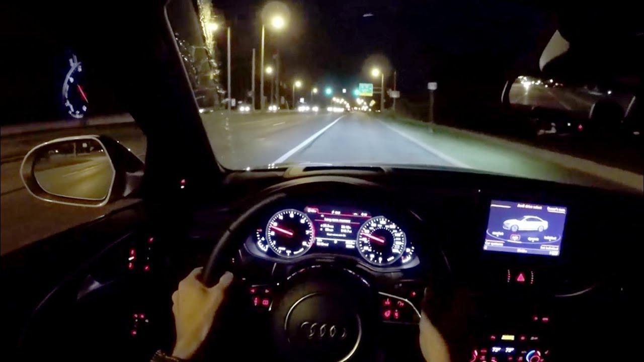 2016 Audi A6 30t Quattro Wr Tv Pov Night Drive Youtube