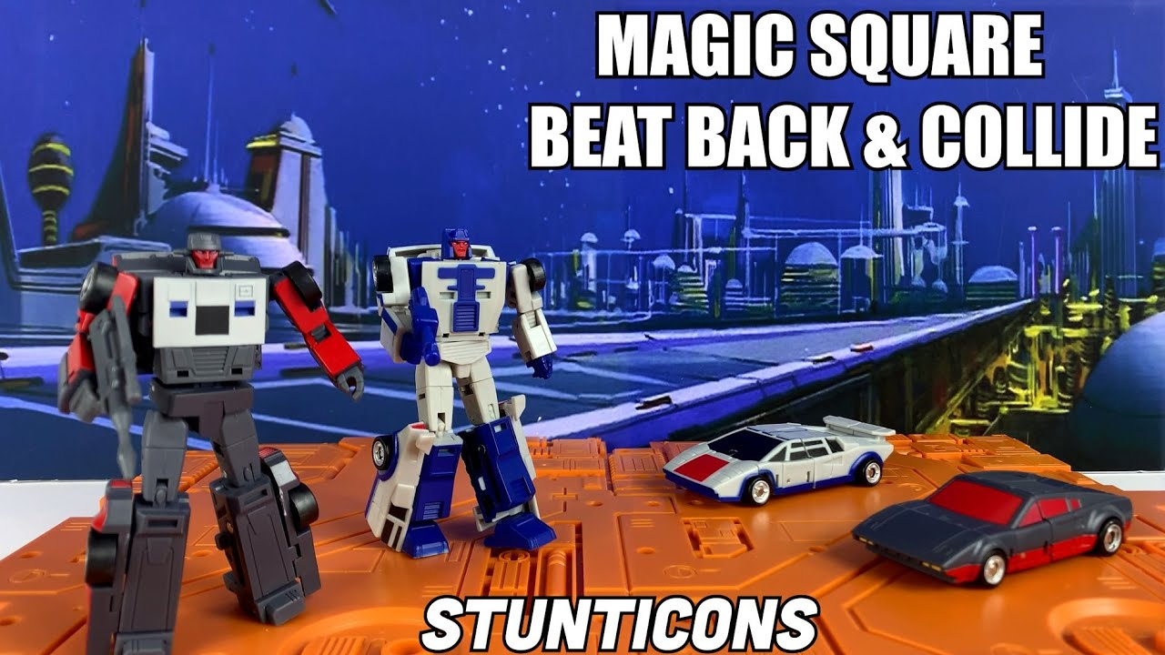 Magic Square B14 B15 Beat Back and Collide Legends Stunticons Unboxing and Review by Enewtabie