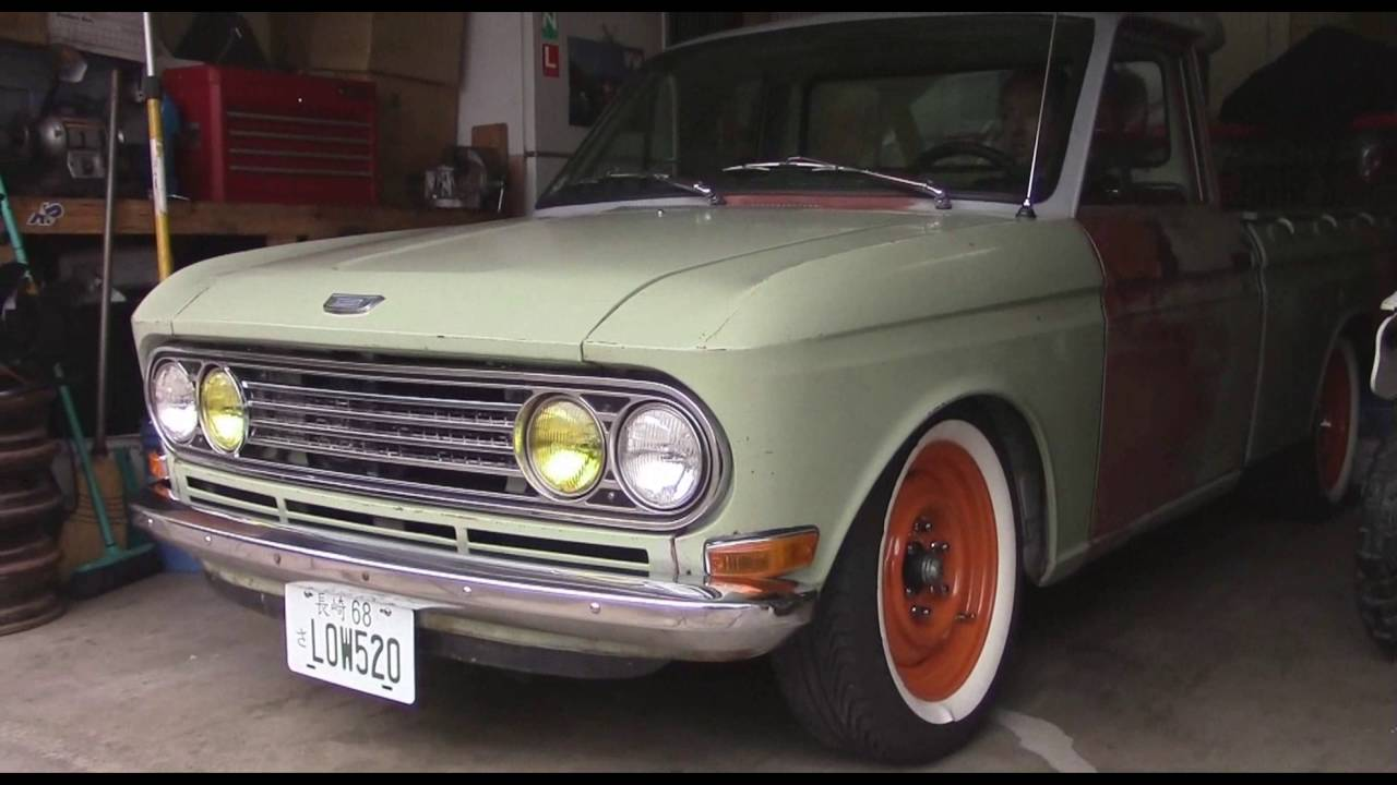 Datsun 520  L20b  Exhaust Walkaround