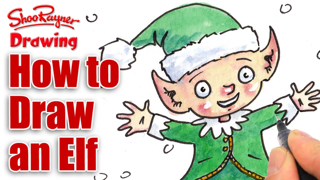 how to draw a christmas elf youtube - How To Draw A Christmas Elf