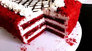 Красный бархат. Потрясающий торт с изумительно сливочно-сырным кремом.