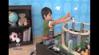 "Kidkraft ""wooden"" Espresso Train Table With Spiral Quarry Train Set - Item 17959"