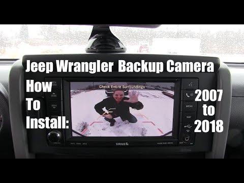 Jeep Wrangler Backup Camera How To Install it! 2007-2018