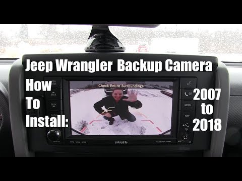 Jeep Wrangler Spare Tire Backup Camera with Plug-and-Play Video Interface EchoMaster Compatible with 2007-2017 Jeep Wrangler All Trims and 2018 Jeep Wrangler JK