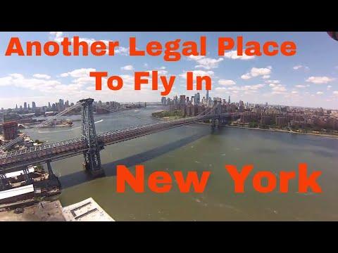 Drone footage Grand Ferry Park Brooklyn New York