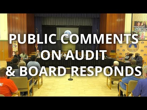 Harrisburg school board meeting public response session