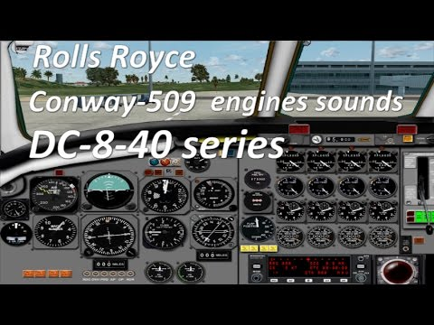 FSX - DC-8-40 - Conway-509 engine sounds - fd views