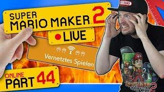 🔴 SUPER MARIO MAKER 2 ONLINE 👷 #44: Stimme nach Ausraster weg! Neuer Müll-Level-Rekord!