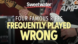4 Famous Guitar Riffs Frequently Played Wrong | Guitar Lesson