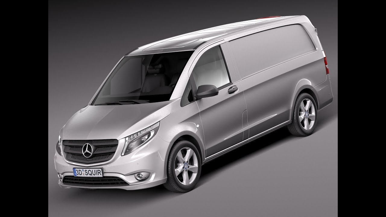 3d model mercedes benz vito panel van 2016 youtube. Black Bedroom Furniture Sets. Home Design Ideas
