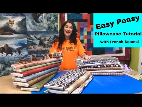 Easy Beginner Pillowcase Tutorial With Fancy French Seams & Tim Holtz Fabric!