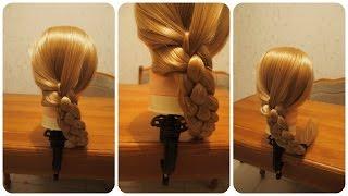Прически на каждый день: коса из четырех прядей(Каждая девушка мечтает о длинных, красивых и шелковистых волосах. Еще с самых древних времен считалось,..., 2014-10-04T19:31:29.000Z)