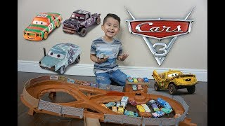 DISNEY CARS 3 Thunder Hollow Criss Cross Track Set,New Diecast CARS 3 Patty, High Impact, GIVEAWAY