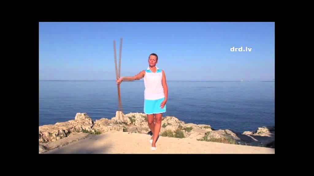 Фитнес: упражнения с гимнастической палкой. - YouTube