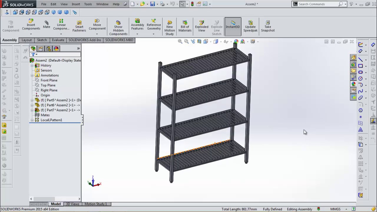 SolidWorks 2018 Tutorial Sheet Metal price of 4 floors 1500x500x2000mm