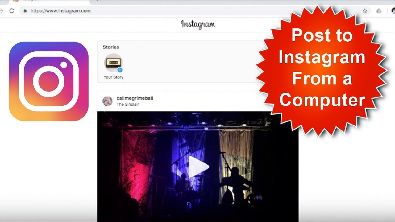 How To Post To Instagram From Computer/Laptop - YouTube