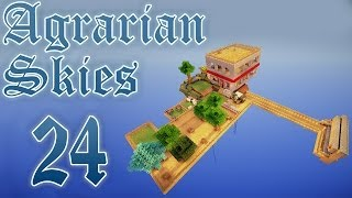 Minecraft FTB: Agrarian Skies #24 - простая автоматизация мини-гайд, Ex Nihilo + Applied Energistics