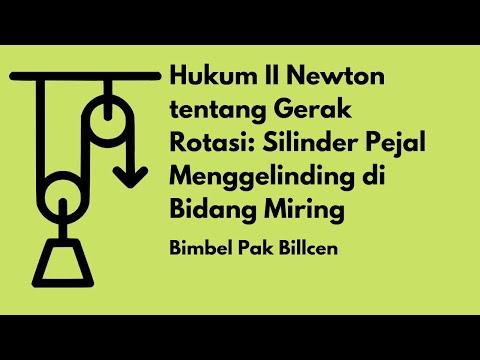 Contoh Soal 3 Hukum Ii Newton Gerak Rotasi Silinder Pejal Menggelinding Di Bidang Miring Youtube