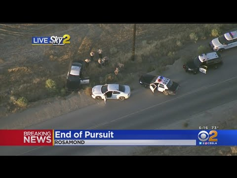 SKY2 Captures Suspect As He Leads CHP Officers On Wild Desert Pursuit