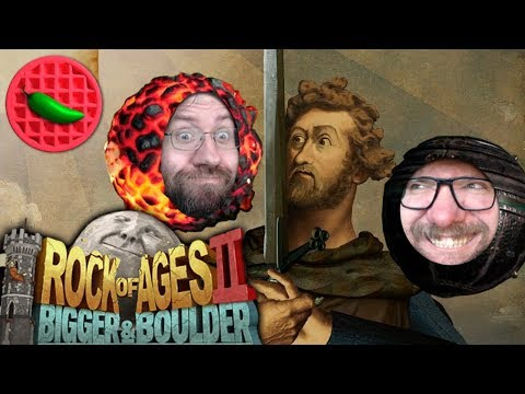 WILLIAM WALLACE GETS WRECKED! -- Rock of Ages 2: Bigger & Boulder (Local Co-op Multiplayer STREAM)