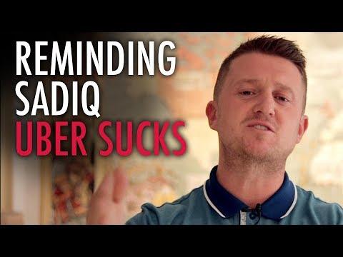 Tommy Robinson Reminds Sadiq Khan Why Uber Sucks