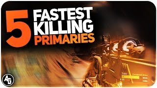 Destiny top 5 fastest killing primaries // best time to kill primary weapons