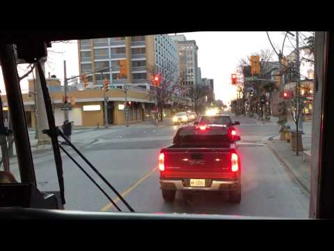 Driving Downtown Windsor to Highway 401