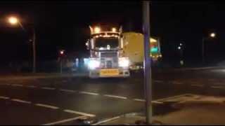 NQ Group CAT 789 Dump Truck & Water Truck Convoy