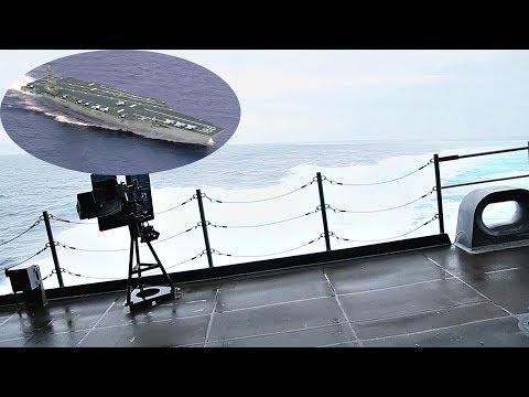 Aircraft Carrier PCU Ford High Speed Turns In Rough Seas + View Of The Ship's Gym