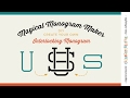 Magical Monogram Maker - Silhouette Studio - SVG DXF interlocking monogram cutfile tutorial