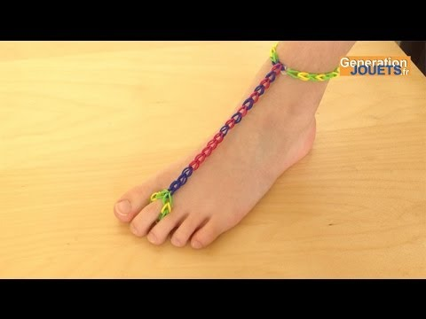 cr er un bracelet de cheville rainbow loom youtube. Black Bedroom Furniture Sets. Home Design Ideas