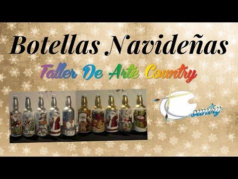 Clase Gratis - Botellas Decoradas Con Servilleta 1- Taller De Arte Country - Productos Roseta