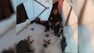 Есть есть поклевка Случай на рыбалке