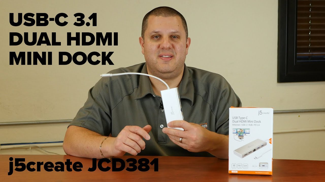 j5create USB-C Dual HDMI Mini Dock JCD381