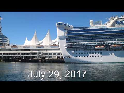 Cruise ship, Star Princess is preparing for the next departure.  July 29, 2017
